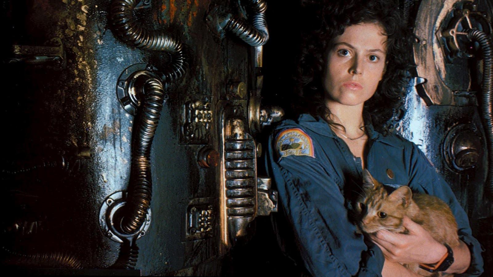 """Sigourney Weaver i """"Alien"""" (1979)."""