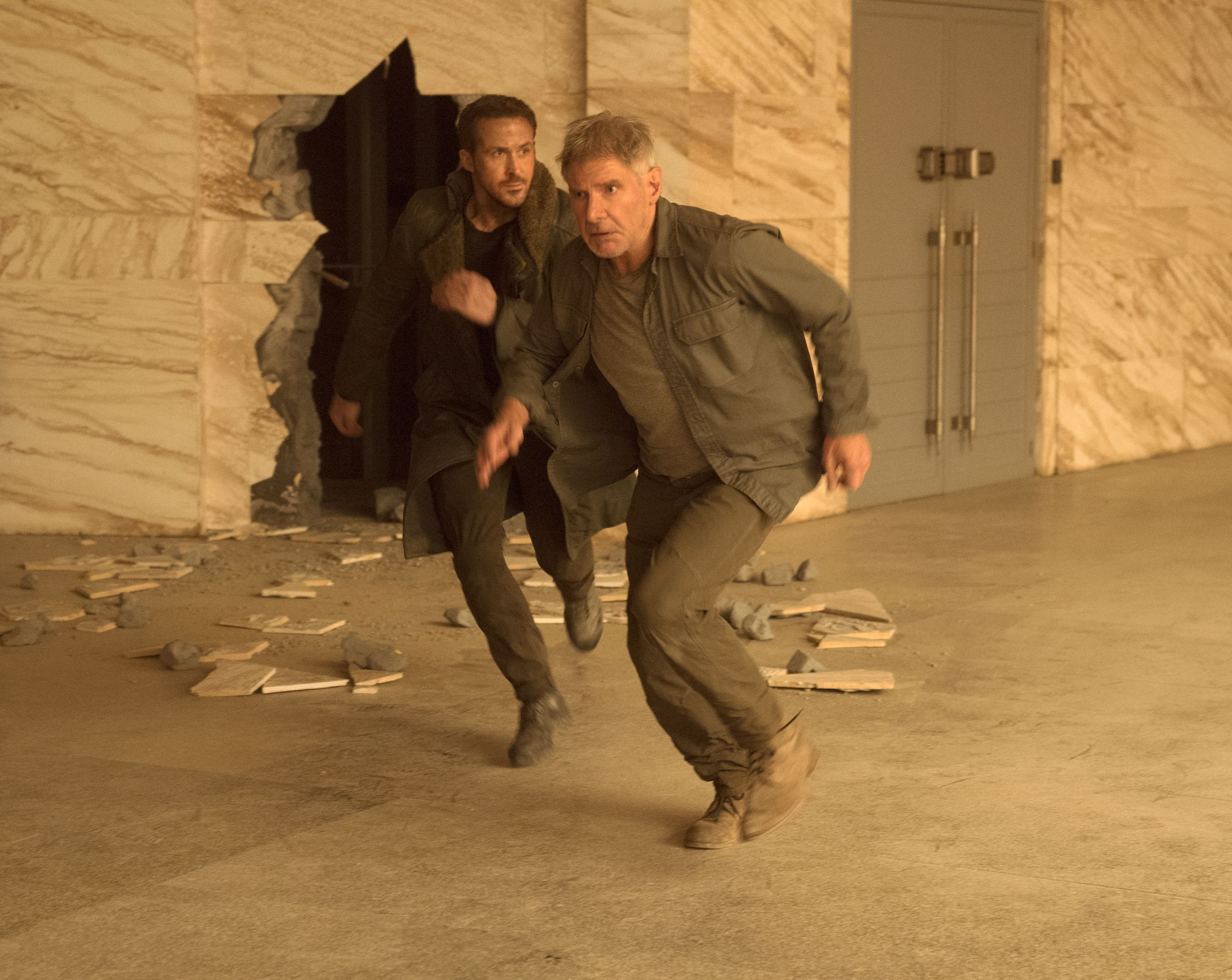 Ryan Gosling and Harrison Ford star in Alcon Entertainment's sci fi thriller BLADE RUNNER 2049 in association with Columbia Pictures, domestic distribution by Warner Bros. Pictures and international distribution by Sony Pictures Releasing International.