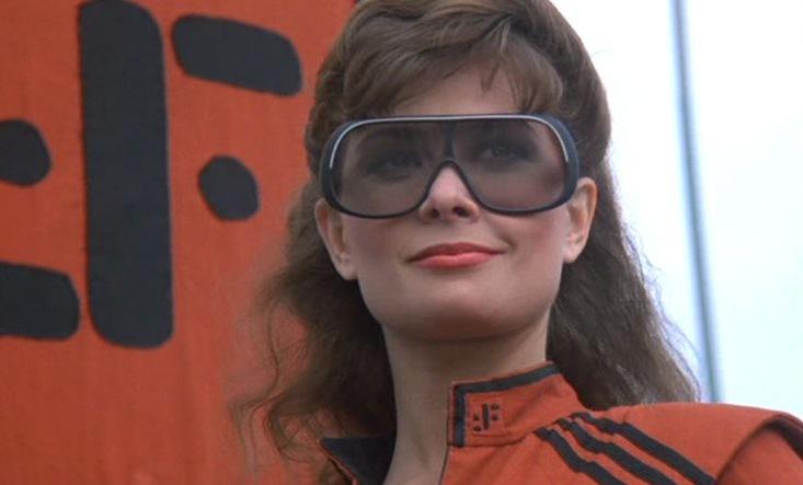 "Jane Badler som den genomonda Diana i ""V""."
